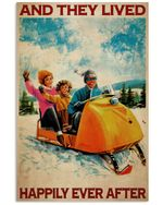 Snocross Family Happily Ever After Vertical Poster Perfect Gift For Men, Women, On Birthday, Xmas, Home Decor Wall Art Print No Frame Full Size