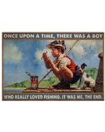 OUAT Boy Really Loved Fishing Horizontal Poster Perfect Gifts For Men, Women, On Birthday, Xmas, Home Decor Wall Art Print No Frame Full Size
