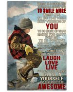 Ice Fishing Today Is A Good Day Vertical Poster Perfect Gifts For Men, Women, On Birthday, Xmas, Home Decor Wall Art Print No Frame Full Size