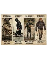 Fisherman Be Strong When You Are A Weak Horizontal Poster Perfect Gifts For Men, Women, On Birthday, Xmas, Home Decor Wall Art Print No Frame Full Size