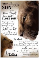 to My Amazing Son Vertical Poster -Lion Family Love Art Color Printed Quotes wallart Poster