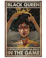 Black Queen The Most Powerful Piece In The Game Vertical Poster Perfect Gifts For Men, Women, On Birthday, Xmas, Home Decor Wall Art Print No Frame Full Size