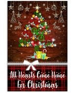 Christmas Poster Cycling All Hearts Come Home For Christmas Vertical Poster Perfect Gift For Men, Women, On Birthday, Xmas, Home Decor Wall Art Print No Frame Full Size