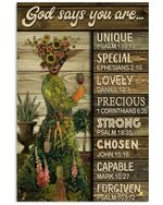 Garden Girl Pallet God Says You Are Vertical Poster Perfect Gift For Men, Women, On Birthday, Xmas, Home Decor Wall Art Print No Frame Full Size