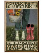 A Girl Who Really Loved Gardening Vertical Poster Perfect Gift For Men, Women, On Birthday, Xmas, Home Decor Wall Art Print No Frame Full Size