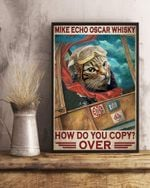 "Cat Pilot Mike Echo Oscar Whisky How do You Copy Vertical Poster Inspiration Poster, Living Room, Bedroom, Home Decor, Vintage Retro. No Frame, Full Size. (16"" x 24"" (1""=2.5cm))"
