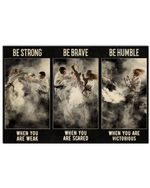 Karate Be Strong When You Are Weak Horizontal Poster Perfect Gift For Men, Women, On Birthday, Xmas, Housewarming Home Decor Wall Art Print No Frame Full Size