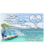 Couple I Choose You To Do Life With Hand In Hand Side By Side Horizontal Perfect Gift For Men, Women, On Birthday, Xmas, Housewarming Home Decor Wall Art Print No Frame Full Size