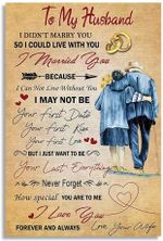"To My Husband - I Love You Forever And AlwaysLove Quote Letter Art Print Picture Indoor Home Wall Decor No Frame Vertical Poster (16"" x 24"" (1""=2.5cm))"