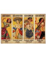 Mexican Folk Dancing Spanish Horizontal Poster Home Decor Wall Art Print No Frame Or Canvas 0.75 Inch Frame Full Size Best Gift For Birthday, Christmas, Thanksgiving, Housewarming