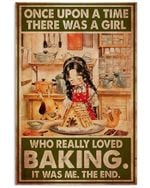 Girl Really Loved Baking Vertical Poster Home Decor Wall Art Print No Frame Or Canvas 0.75 Inch Frame Full Size Best Gift For Birthday, Christmas, Thanksgiving, Housewarming