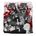 Naruto Shippuden Akatsuki Custom Bedding Set (Duvet Cover &Amp; Pillowcases)