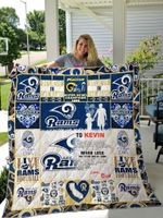 Los Angeles Rams – Personalized Name Quilt Blanket For Dad And Son