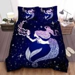 Galaxy Mermaid Cotton Bed Sheets Spread Comforter Duvet Cover Bedding Sets