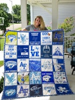 Air Force Falcons #40 Alec Mock Quilt Blanket