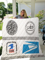 Usps Logos Quilt Blanket