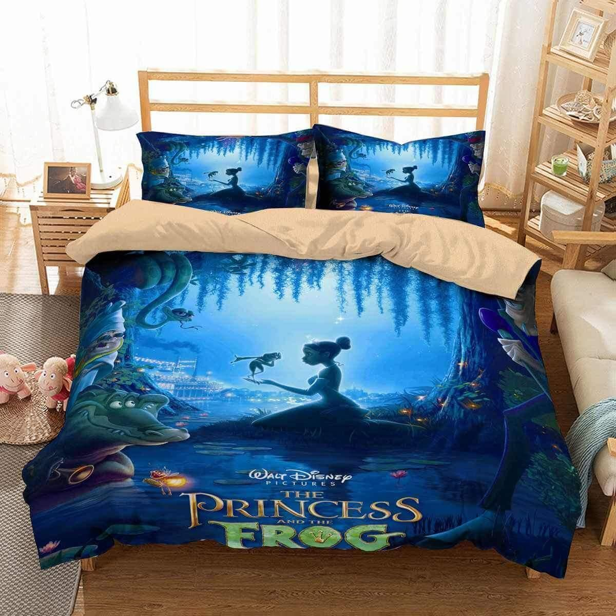 3d The Princess And The Frog Duvet Cover Bedding Set ...