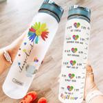 Autism Awareness HRA2904002 Water Tracker Bottle