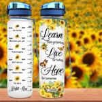 Butterfly Sunflower MAL1307002 Water Tracker Bottle