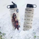 Black Women Magazine HTW2407018 Stainless Steel Bottle with Straw Lid
