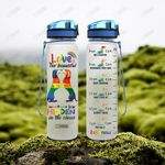 LGBT Dachshund HRA1504004 Water Tracker Bottle