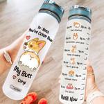 Corgi Butt HAH2705002 Water Tracker Bottle