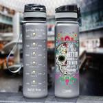 Skull Wife HHA2407036 Black Water Tracker Bottle