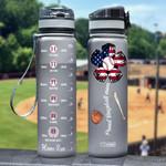 Baseball Mom HHA1108004 Black Water Tracker Bottle