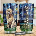 Golden Retriever Starry Night Personalized HTR2309011 Stainless Steel Tumbler
