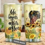 Coffee Black Women Personalized HTR2509024 Stainless Steel Tumbler