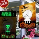 Halloween Bichon Frise THR2809016 Luminous Flag