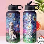 Beagle Starry Night HTR2909012 Stainless Steel Bottle With Straw Lid