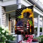 American Faith Sunflower THV3009001 Flag