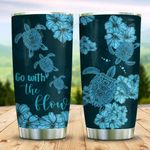 Turtle Hibiscus KD2 MAL3009018 Stainless Steel Tumbler