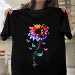 Butterfly Rainbow Sunflower HNR0110001 Classic T Shirt