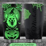 American Eskimo Halloween Personalized HTQ0110005 Luminous Stainless Steel Tumbler