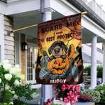 Dachshund Halloween House KD2 KHL0210003 Flag