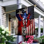 Puerto Rico American Frog THV0310007 Flag