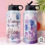 Love Dolphin Personalized HHE0310016 Stainless Steel Bottle With Straw Lid