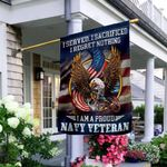 I Am A Proud Navy Veteran THV0510007 Flag