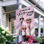 Giraffe Family Faith THV0510005 Flag