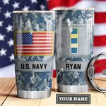 Navy Personalized MDA0510036 Stainless Steel Tumbler