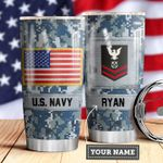Navy Personalized MDA0510025 Stainless Steel Tumbler