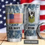 Navy Personalized MDA0510027 Stainless Steel Tumbler