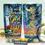 Lighthouse Faith Personalized HTQ0510005 Stainless Steel Tumbler