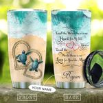 Turtles Couple Pesonalize KD2 KHL0510022 Stainless Steel Tumbler