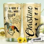 Horse Riding Personalized THV0610006 Stainless Steel Tumbler