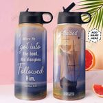 Faith Ship Personalized DNE0610002 Stainless Steel Bottle With Straw Lid