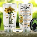 To My Daughter Kisses Mom Personalized KD2 HAL0710016 Stainless Steel Tumbler