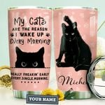Black Cat Personalized HHA0710011 Stainless Steel Tumbler